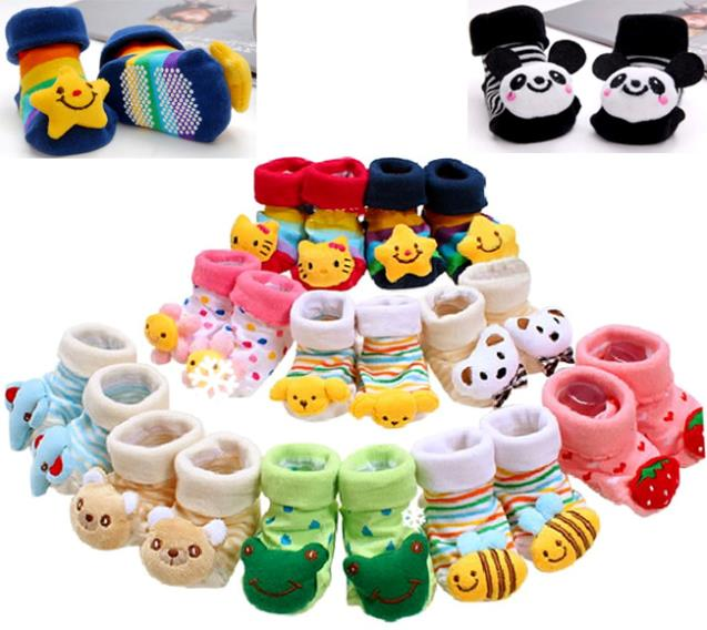 Soft Newborn Lovely Baby Girl Boy Unisex Anti slip Socks Animal Boots 0 6 Months