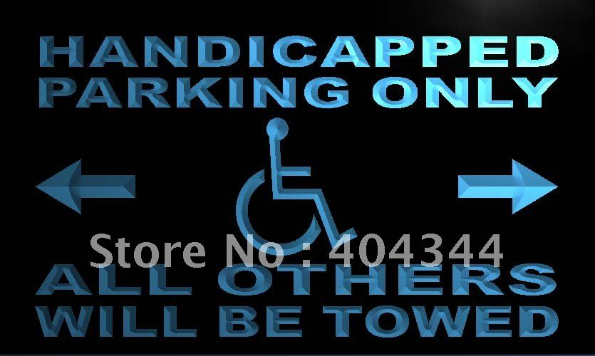 LN354- Handicapped Parking Only LED Neon Light Sign home decor crafts(China (Mainland))