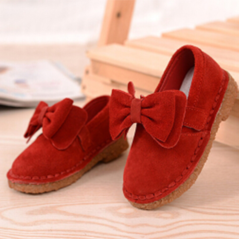 2015 Autumn Baby Girls Shoes Sweet Bowtie Princess Shoes Leather Shoes Korean Students Cute Bowknot PU Leather Shoes(China (Mainland))