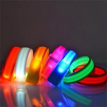 LED Flashing Wrist Band Bracelet Arm Band Belt Light Up Dance Party Glow For Party Decoration Gift(China (Mainland))