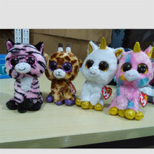 Buy  (A Toy A Dream)Anime Club Ty Beanie Boos big eyes plush toys Pepper the Cat Husky Penguin big eyes plush dollbirthday gift for $3.37 in AliExpress store