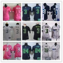 Signature 2016 Women Ladies Seattle Seahawks, Marshawn Lynch,Richard Sherman,,Russell Wilsons # TYLER LOCKETT camouflage(China (Mainland))