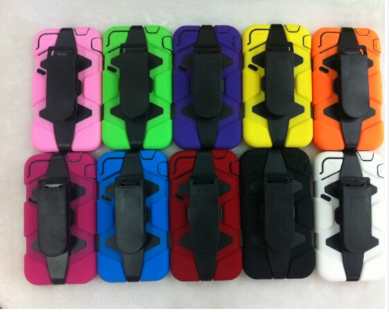 Free shipping Durable Shockproof waterproof Military Heavy Duty With Belt Clip Case cover for iphone 4 4s(China (Mainland))