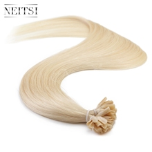 "Neitsi 16"" 20"" 24"" 50g 100g 1g/s Pre Bonded U Nail Tip Human Hair Straight Extensions P24/60# Natural Keratin Capsule Remy Hair(China (Mainland))"