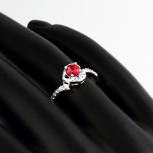 New Ruby Jewelry 925 Sterling silver rings for women CZ Diamond wedding ring Party anel feminino