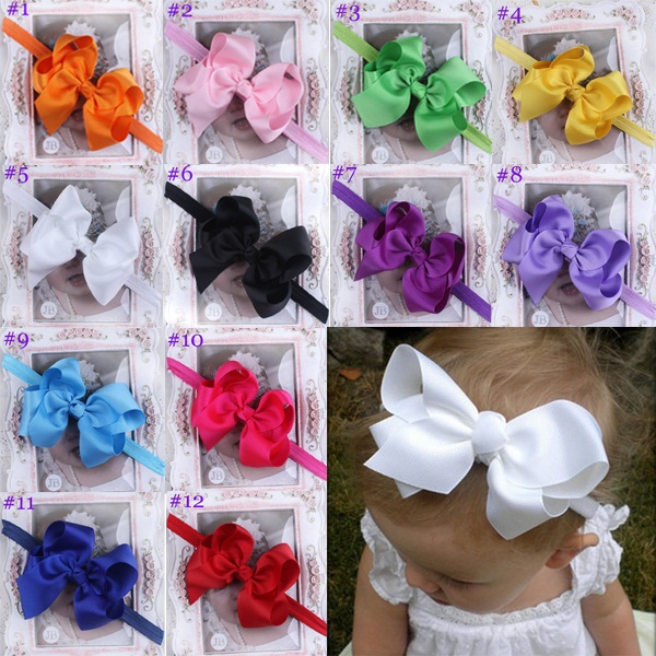 Baby Infant Child headband Boutique Bow Headband Hair accessories 12 color for choose 24pcs HB179Одежда и ак�е��уары<br><br><br>Aliexpress