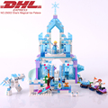 731Pcs Lepin Friend Figures Princess Elsa s Magical Ice Palace Model Building Kit Blocks Brick Toy