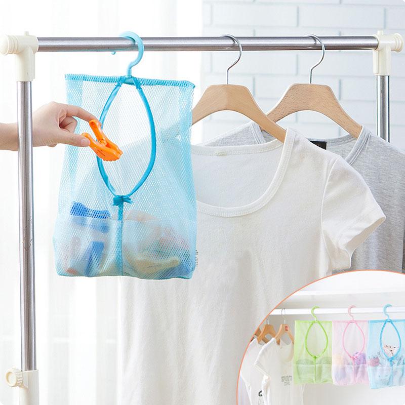 Multifunctional hanging storage bag container for toys mesh bag crib bedding bathroom laundry storage makeup organizer(China (Mainland))