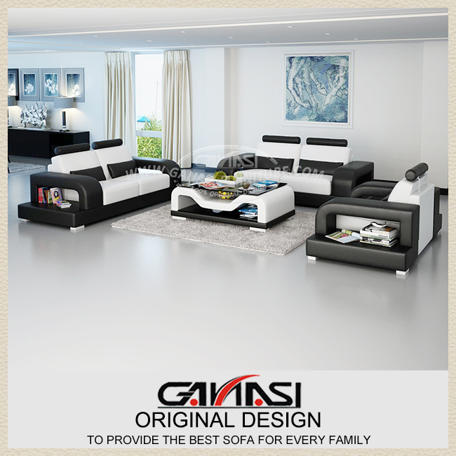 black and white living room furniture,top grain leather furniture,large size furniture(China (Mainland))