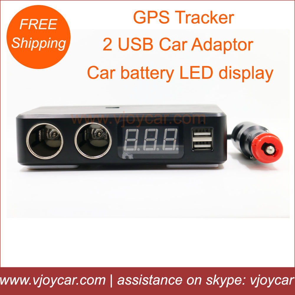 New!Special gps tracker chipset,hidden in the car charger+voice monitor recorder+vehicle battery checking+2 USB ports,free ship(China (Mainland))