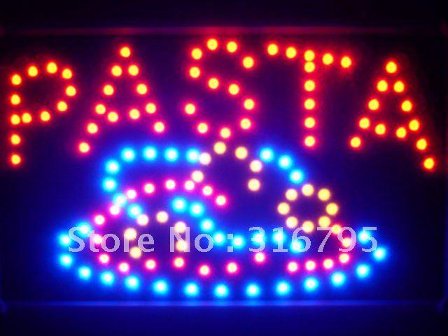 led125-r Pasta Pizza Cafe Shop Led Neon Sign WhiteBoard(China (Mainland))