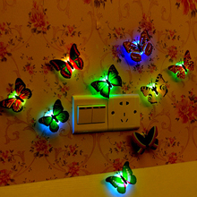5Pisces!!butterfly night lights indoor bedroom decorations light Children room Creative Colorful bedside night light for party(China (Mainland))