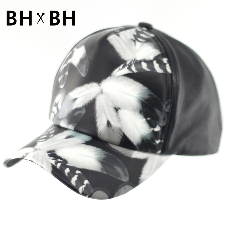 HOT selling adults baseball hat men and women casual Wings Pattern outdoor sports adjustable cap PU headwear BH-LDL036(China (Mainland))