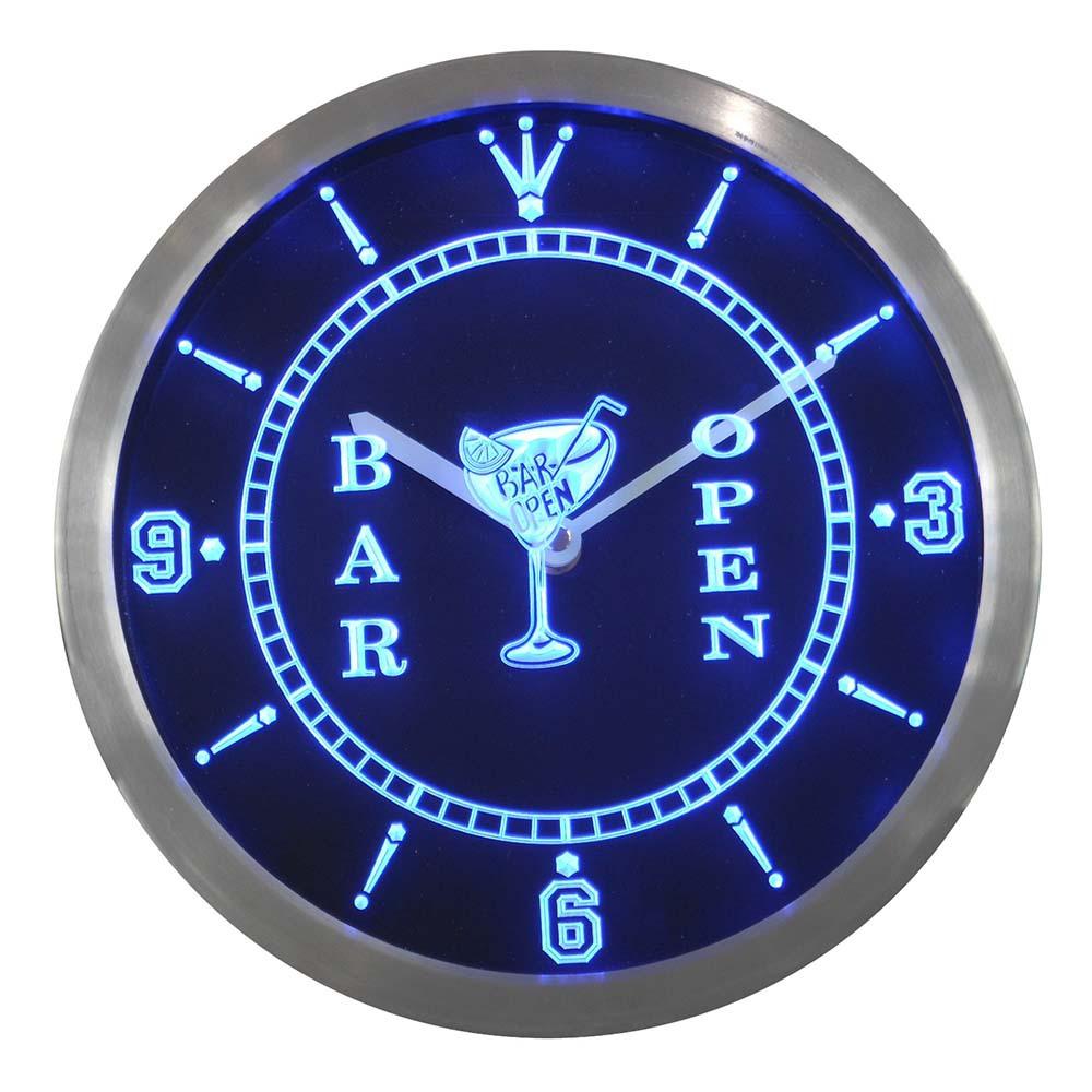 Vin horloge murale promotion achetez des vin horloge - Horloge murale a led ...
