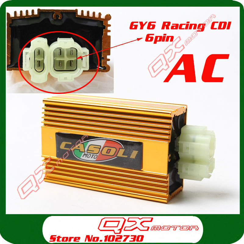 font b GY6 b font AC fired 6 pin Racing CDI 125cc 150cc 200cc Scooter
