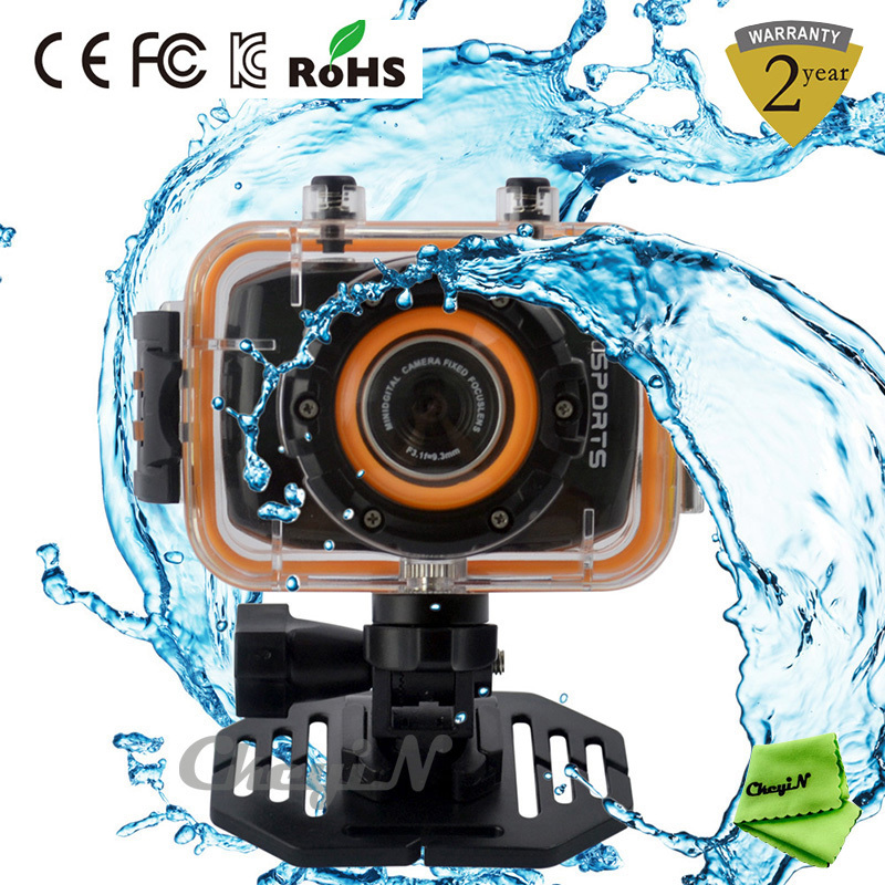 FHD 1080P Action Camera Waterproof Sports DV 120 Wide Angle Outdoor Camcorder 2.0'' Touch Panel Digital Video Camera DVR19-H30(China (Mainland))
