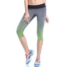Women Leggings Summer Capri Pants Fitness Clothes Elastic Capris Leggings Hot(China (Mainland))