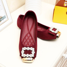 2014 all match Korean fashion flat shoes buckle shoes wholesale diamond network explosion 6688 suede