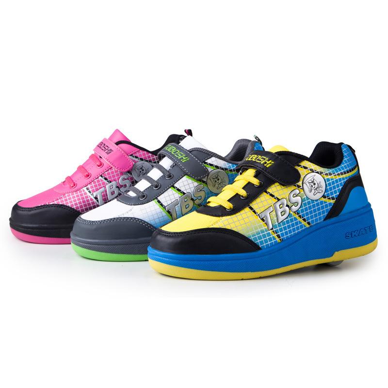 Aluminum Alloy Single Wheelies Shoes Automatic Roller Skate Zapatillas Con Ruedas Girls Boys Light Weight Tenis TX59