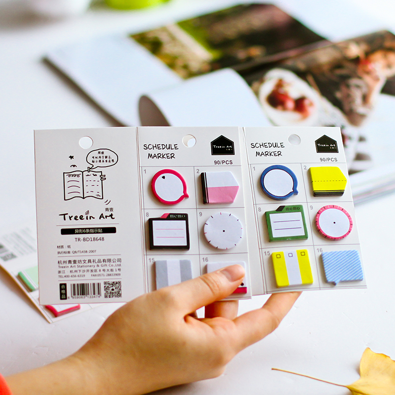 Very Cute Mini N Times Sticker Schedule Marker Instructions Attached Hand Shaped Account Decoration School Supplies Stationery(China (Mainland))