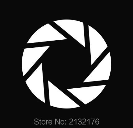 "Aperture Science Portal Logo Vinyl Die Cut Car Bumper Windows Decal Sticker 4"" White(China (Mainland))"