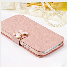 Silk Texture Cell Mobile Phone Bag to Case For Lenovo A3600 A3600D Cover by Leather Filp Bracket Case For Lenovo A3800 A3800D