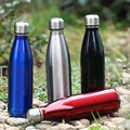 Stainless Steel Bowling Shape Vacuum Insulated Water Bottle Outdoor Travel Portable Keep Hot Water Bottle Fashion