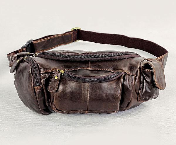 J.M.D 2014 New Most Popular Vintage Leather Design Fanny Wallet Belt Bag Purse Waist Pack Outdoor # 7144C<br><br>Aliexpress