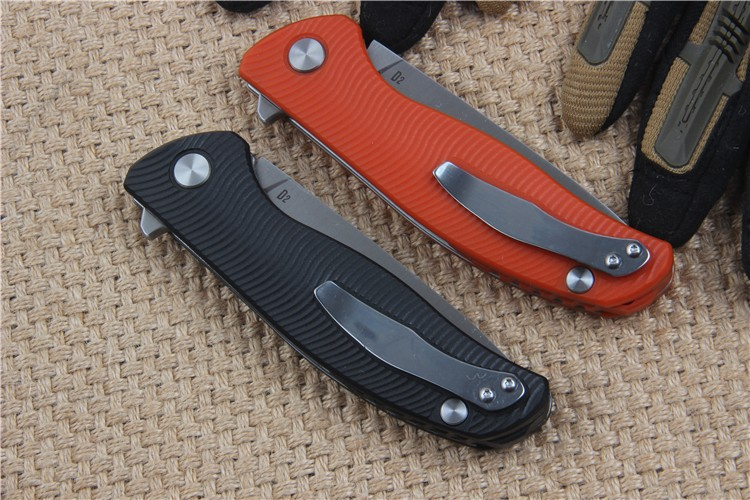 Buy High Quality F95 Tactical Folding Knife with D2 Blade G10 Handle Ball Bearing Flipper Outdoor Camping Survival Pocket Knife cheap