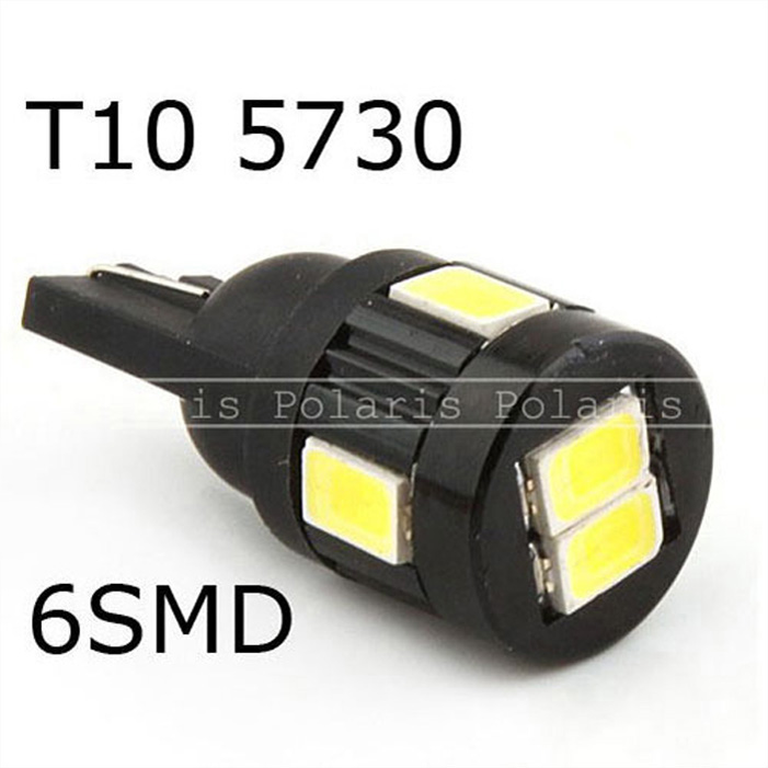 T10 6 SMD 5730 LED W5W 194 Wedge Light Clearance Lights Reading Lamp Car  Led License Plate Light Bulb The Best Quality