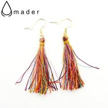 Buy European Brand Fashion Jewelry Colorful Ropes Tassel Ethnic Style Tribal Dangle Earrings Girls Women Drop Earrings AE110N for $15.75 in AliExpress store