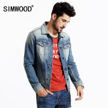 SIMWOOD 2016 New Autumn Winter Denim jacket Men Coats Fashion Causal 100% cotton NJ6502(China (Mainland))
