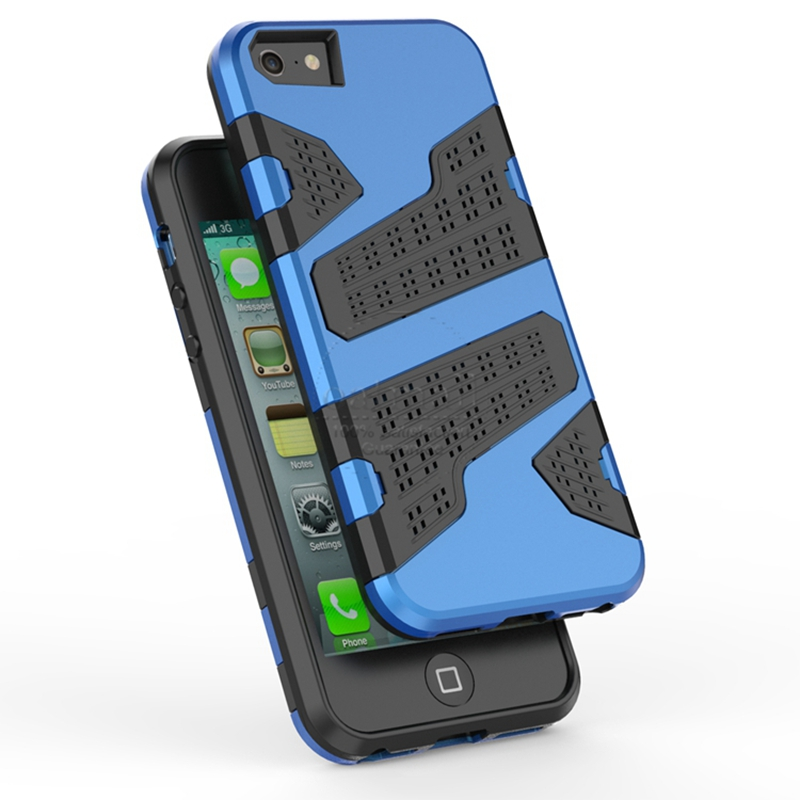New Mesh Design Heat Radiation Dual Layer Hybrid Tough Rugged Armor Case Apple iphone 5 5S SE Fundas Shockproof Back Cover