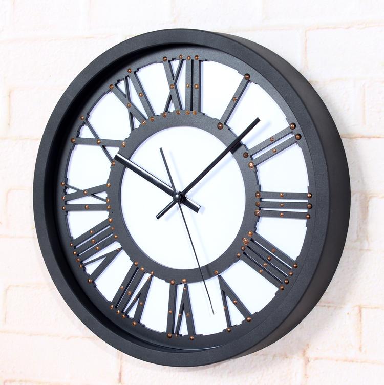 Europ enne si cle classique 3d chiffres romains horloge for Horloge murale grande taille