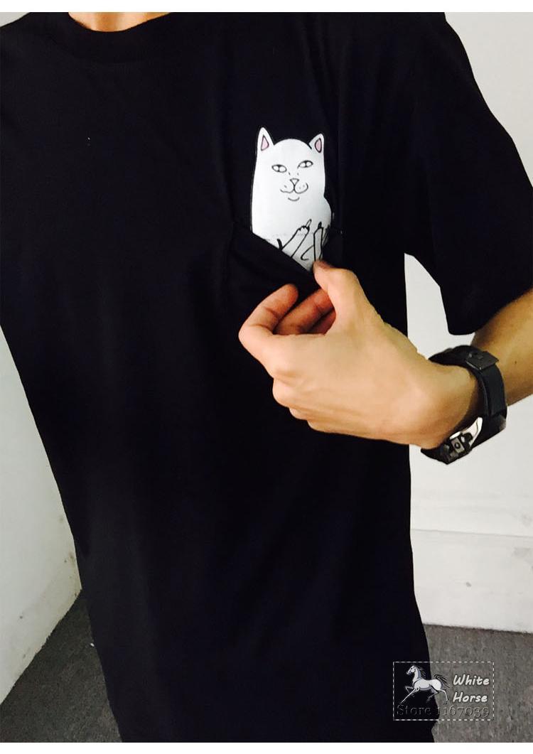 Shirt rip design -  2015 Rip N Dip Lord Nermal Pocket Cat Design T Shirt Women Harajuku O
