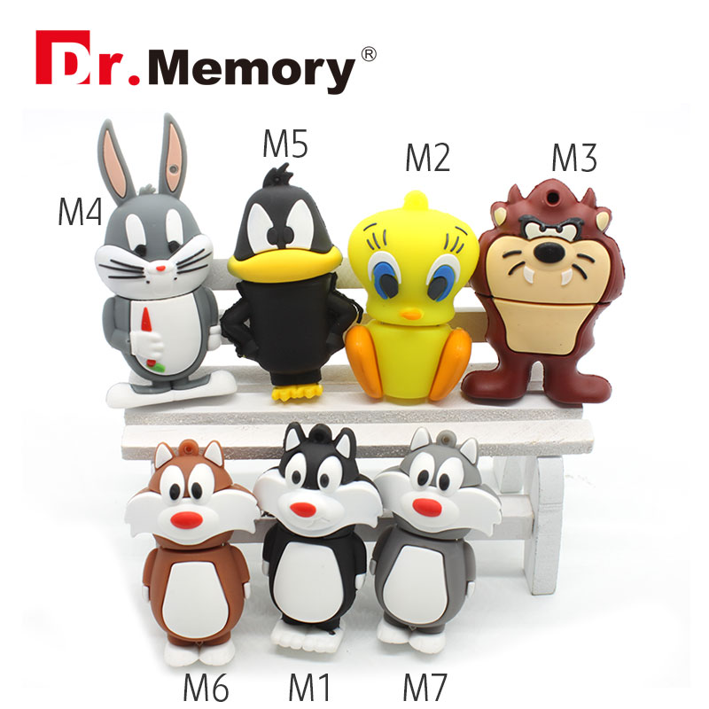 Bugs Bunny USB Flash Drive Daffy Duck Pen Drive 4gb 8gb 16gb 32gb Tweety USB Stick Devil Pendrive External Storage 2016(China (Mainland))