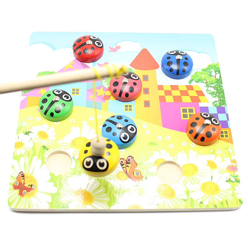 Simingyou Children Toys Wooden Fishing Beetle Children 'S Educational Toys Early 3d Magnetic Puzzle SG36(China (Mainland))