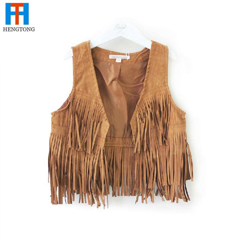 Гаджет  HOT!free shipping European and American style fashion 2014 baby&girls tassel vest Performance Clothing suit 2-7 blusas femininas None Детские товары