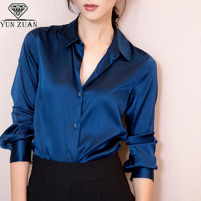 Блузка Синяя Шелковая Доставка