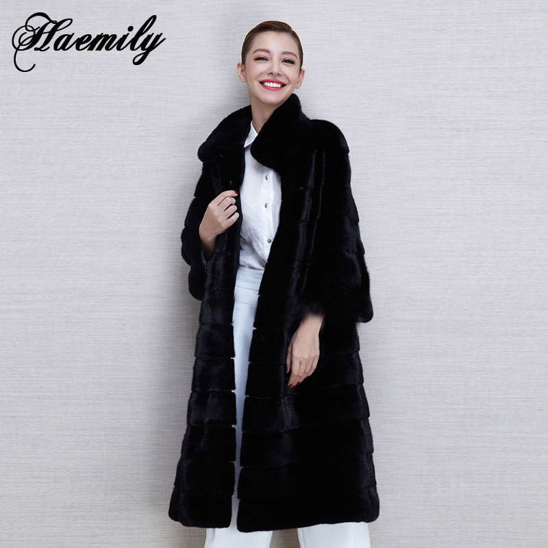 Black X-Long Winter Women Fur Coat 2015 New Thick Warm Faux Rabbit Fur Overcoat Design Tops Outerwear Womens Clothing PC079Одежда и ак�е��уары<br><br><br>Aliexpress