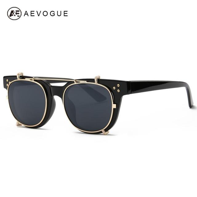 Aevogue очки женщин снять объектив стимпанк бренд дизайнер новые антибликовое покрытие солнцезащитные очки UV400 AE0365