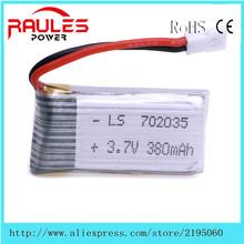 best price 3.7V 380mAh 25C Battery Hubsan X4 H107D H107C X11 X11C U186A YD928 cheap price free shipping