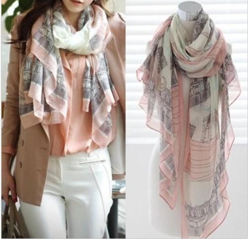 cachecol feminino scarf Women's Vintage Lady Soft Long Neck Large Scarf Wrap Shawl Pashmina Stole Drop Free 2015 New Fashion(China (Mainland))
