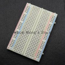 Quality mini bread board / breadboard 8.5CM x 5.5CM 400 holes(China (Mainland))