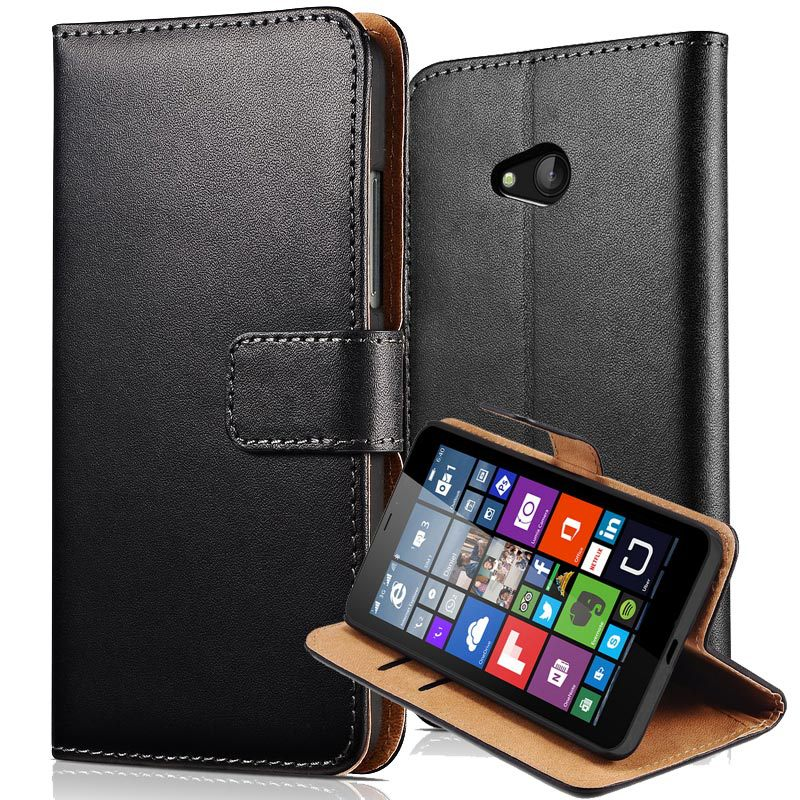 Luxury Flip Cover Microsoft Lumia 640 5.0 inch Wallet Leather Case Nokia Lumia 640 Phone Bag Cases Black Fashion Shell