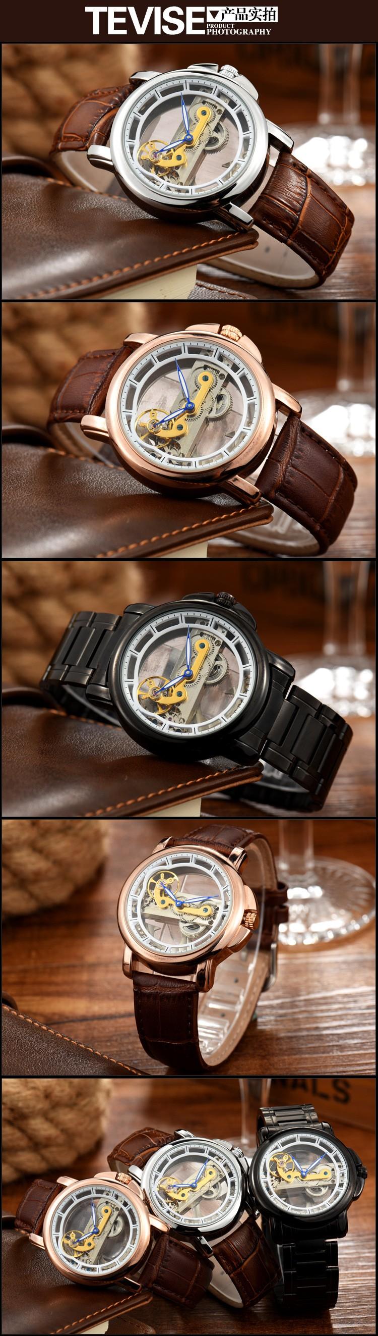 Мужские часы подлинные TEVISE бренды часы водонепроницаемый мода механические автоматические наручные часы