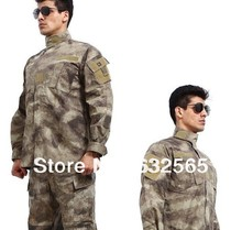 Buy Military CP Battle Dress Uniform Suit, A-TACS Paintball Uniform, CS Training Suit, Combat Suit, Tactical BDU for $52.24 in AliExpress store