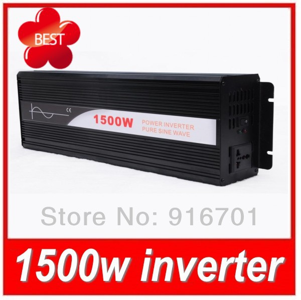 12VDC to 100VAC 50HZ/60HZ 1500W Pure Sine Wave Inversor Used for Motor Homes with Universal Socket(China (Mainland))