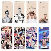 """Fashion JUSTIN BIEBER Design Phone Cases For iPhone SE 5 5S 6 6S 7 Plus Transparent Plastic Back Cover Coque For iPhone 7 4.7""""(China (Mainland))"""
