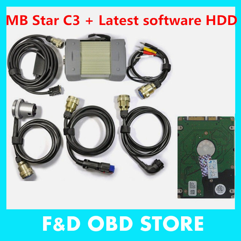 MB STAR C3 !!! Professional 4.2KG MB STAR C3 with mb C3 Software hdd mb star c3 DHL Free shipping(China (Mainland))